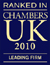 Chambers UK 2010 - Leading Firm